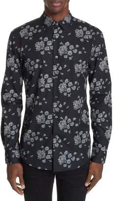 John Varvatos Collection Floral Print Shirt
