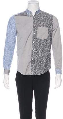 Opening Ceremony Floral Colorblock Shirt