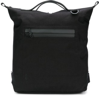 Ally Capellino top handle zip pocket backpack