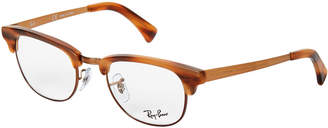 Ray-Ban RB 5294 Tortoiseshell-Look & Copper-Tone Clubmaster Optical Frames