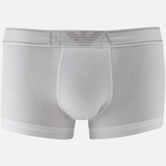 Emporio Armani Men's Soft Cotton Trunks - Bianco