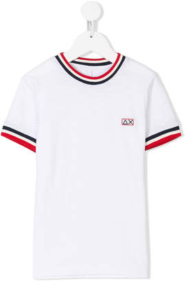 Sun 68 striped trim T-shirt