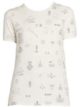 Loewe Cotton& Silk Logos Tee