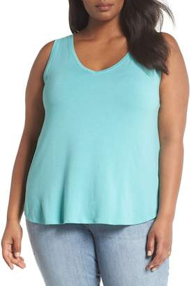 Sejour V-Neck Knit Tank (Plus Size)