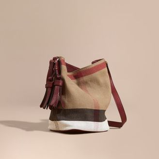 Burberry The Small Ashby in Canvas Check and Leather $695 thestylecure.com