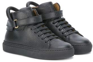 Buscemi Kids strapped hi-top sneakers