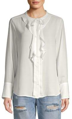 Karl Lagerfeld Paris Ruffle-Trimmed Blouse