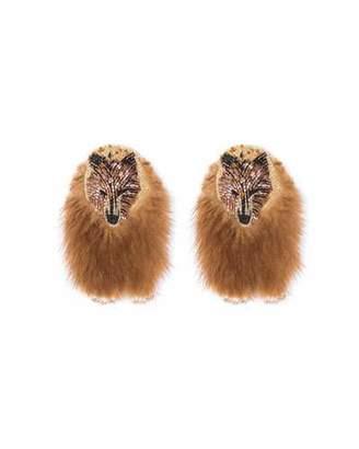 Mignonne Gavigan Bear Faux Fur Earrings