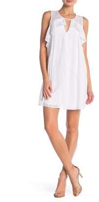 BCBGeneration Front Cutout Ruffle Dress