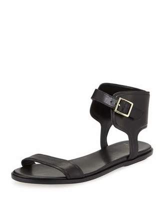 Cole Haan Barra Leather Ankle-Strap Sandal, Black $150 thestylecure.com