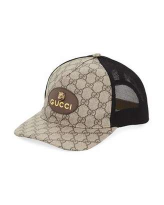 7c38d60fa9e70b Gucci GG Supreme Baseball Cap with Feline Head