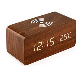 Samsung OCT17 Wooden Alarm Clock with Qi Wireless Charging Pad for iPhone