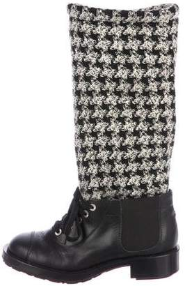 Chanel Sweater Boots