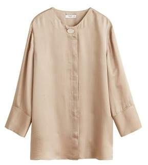 MANGO Button satin blouse