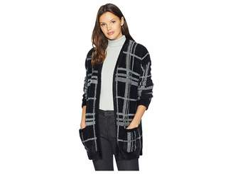 1 STATE 1.STATE Cozy Plaid Long Cardigan