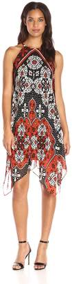 MSK Women's Floral Woven Hanky Dress