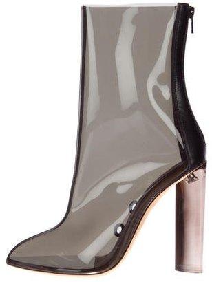 Yeezy Season 3 PVC Ankle Boots $900 thestylecure.com