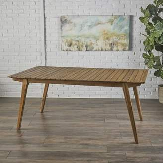 Union Rustic Lindo Rustic Wood Dining Table