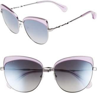 Cat Eye DIFF Izzy 59mm Polarized Sunglasses