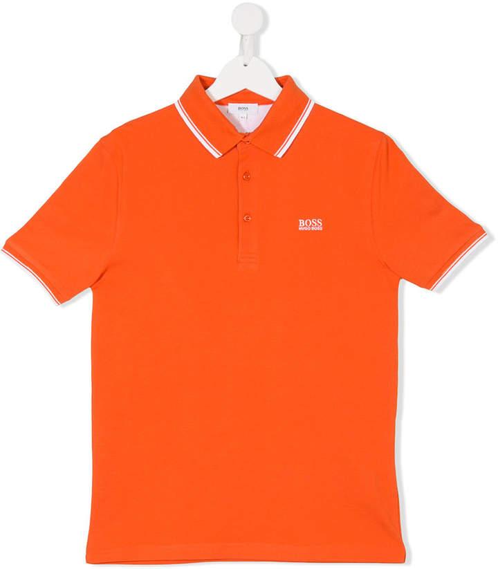 Boss Kids Teen logo polo shirt