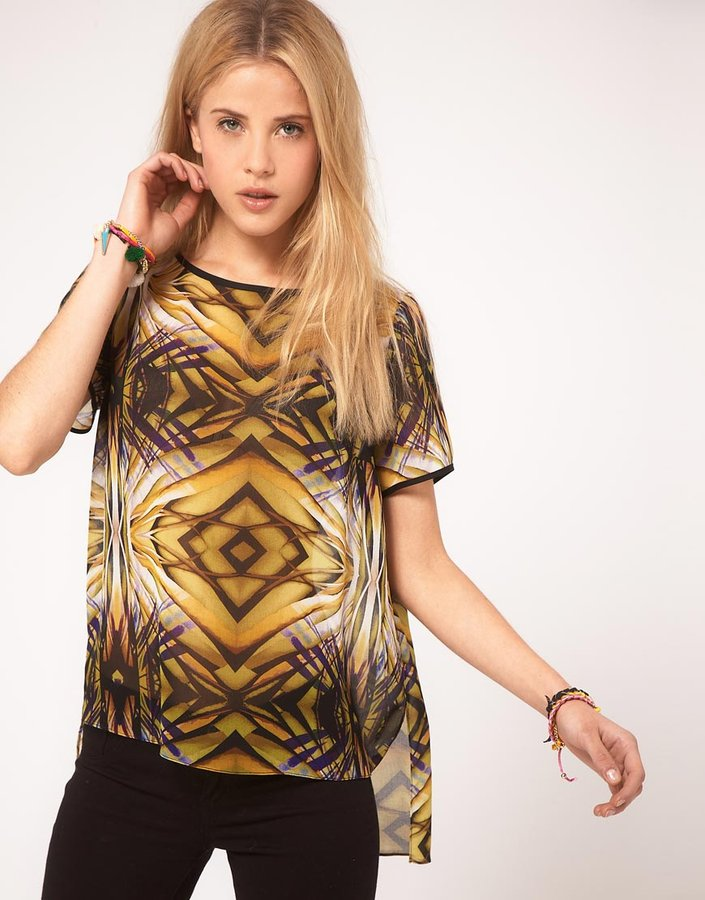 ASOS Woven T-Shirt With Jungle Mirror Print