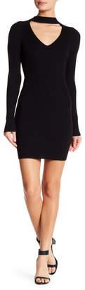 Do & Be Do + Be Ribbed Knit Mock Choker Dress