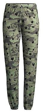 Monrow Women's Camo Hearts Sweatpants