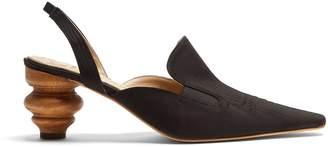 Rosie Assoulin Rasin sculptured-heel slingback pumps