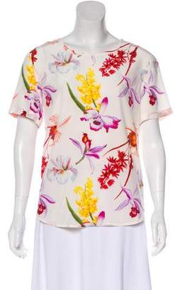 Equipment Floral Short Sleeve Top