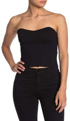 Line & Dot Ruth Strapless Sweater Top