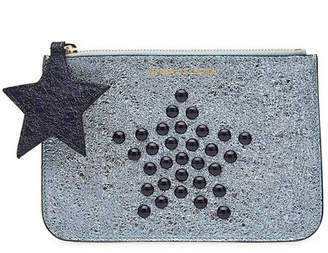 Tommy Hilfiger Studded Metallic Leather Pouch
