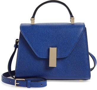 Valextra Micro Iside Leather Top Handle/Crossbody Bag