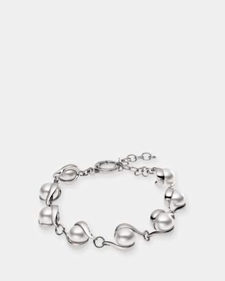 Skagen Agnethe Silver-Tone Pearl Bracelet