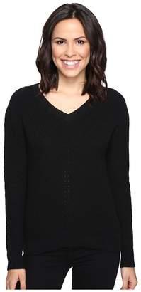 Michael Stars Alpine Knit V-Neck Cold Shoulder Sweater Women's Sweater