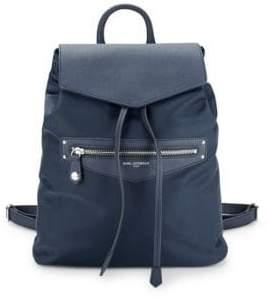 Karl Lagerfeld Leather-Trimmed Nylon Drawstring Backpack