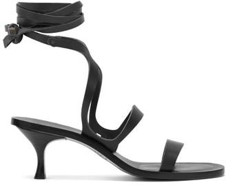 Álvaro González Alea Wrap Leather Sandals - Womens - Black