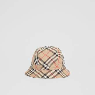 1e7aa3d1 Burberry Childrens Reversible Vintage Check Bucket Hat