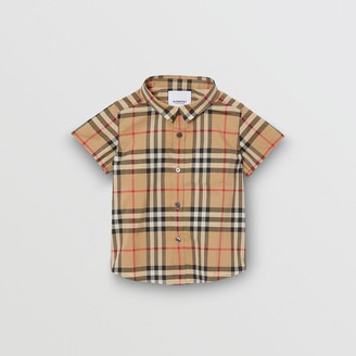 Burberry Short-sleeve Vintage Check Cotton Shirt