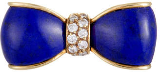Van Cleef & Arpels Heritage  18K Yellow Gold 0.19 Ct. Tw. Diamond & Lapis Lazuli Brooch