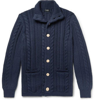 J.Crew Cable-Knit Cotton Cardigan