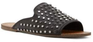 Jessica Simpson Kloe Studded Leather Slide Sandals