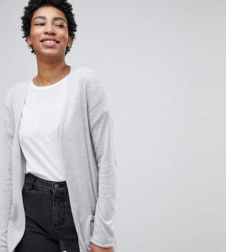 Asos Tall TALL Cardigan In Fine Knit With Rib Detail