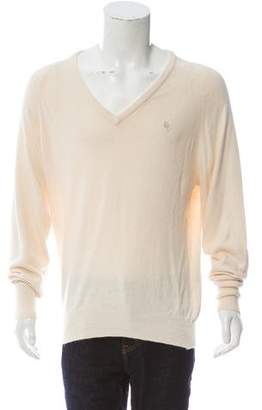 Christian Dior Casual V-Neck Sweater