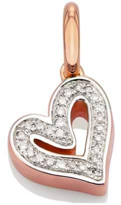 Monica Vinader Alphabet Heart Diamond Pendant Charm