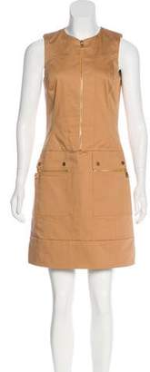 Michael Kors Zip-Up Mini Dress