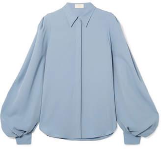 Sara Battaglia Crepe Shirt - Blue