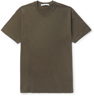 Givenchy Columbian-Fit Silk-Trimmed Cotton-Jersey T-Shirt $685 thestylecure.com