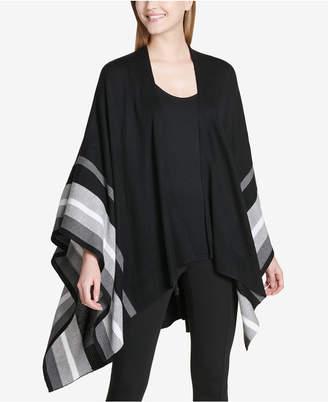 Calvin Klein Draped Poncho Shawl Sweater
