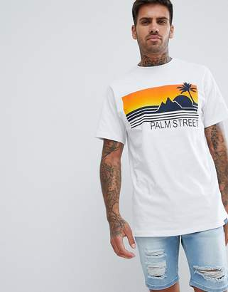 Pull&Bear t-shirt in white with embossed print