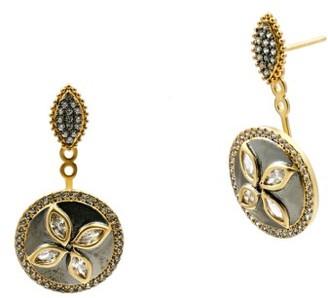 Women's Freida Rothman Fleur Bloom Drop Back Earrings $195 thestylecure.com